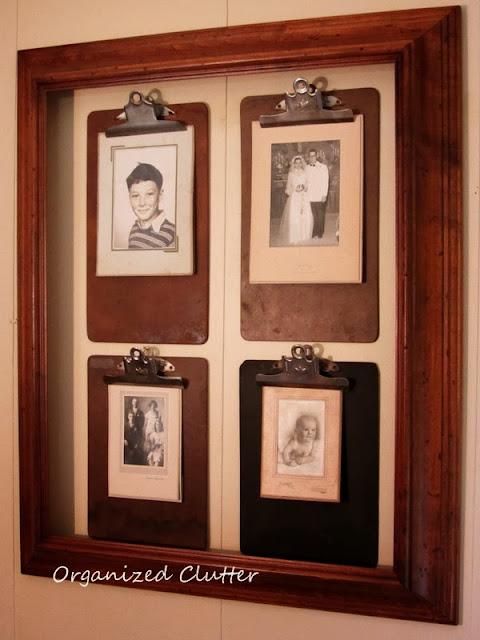 Clipboard Photo Wall http://organizedclutterqueen.blogspot.com/2013/10/pinterest-inspired-clipboard-photo-wall.html