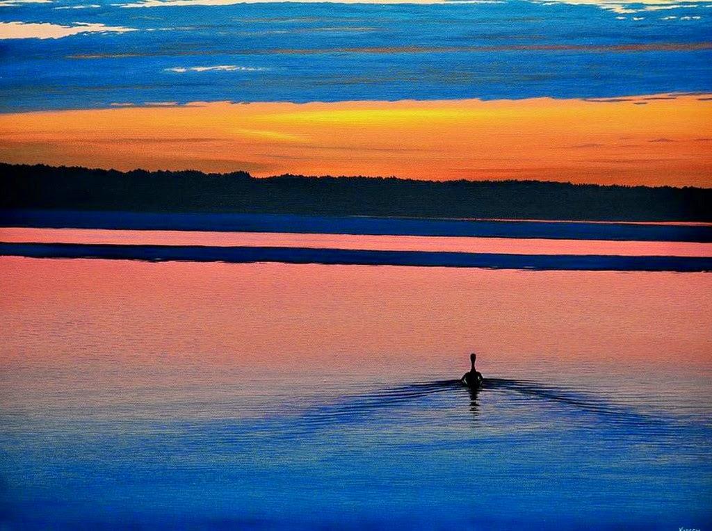 Pintura moderna y fotograf a art stica amanecer o - Cuadros de atardeceres ...