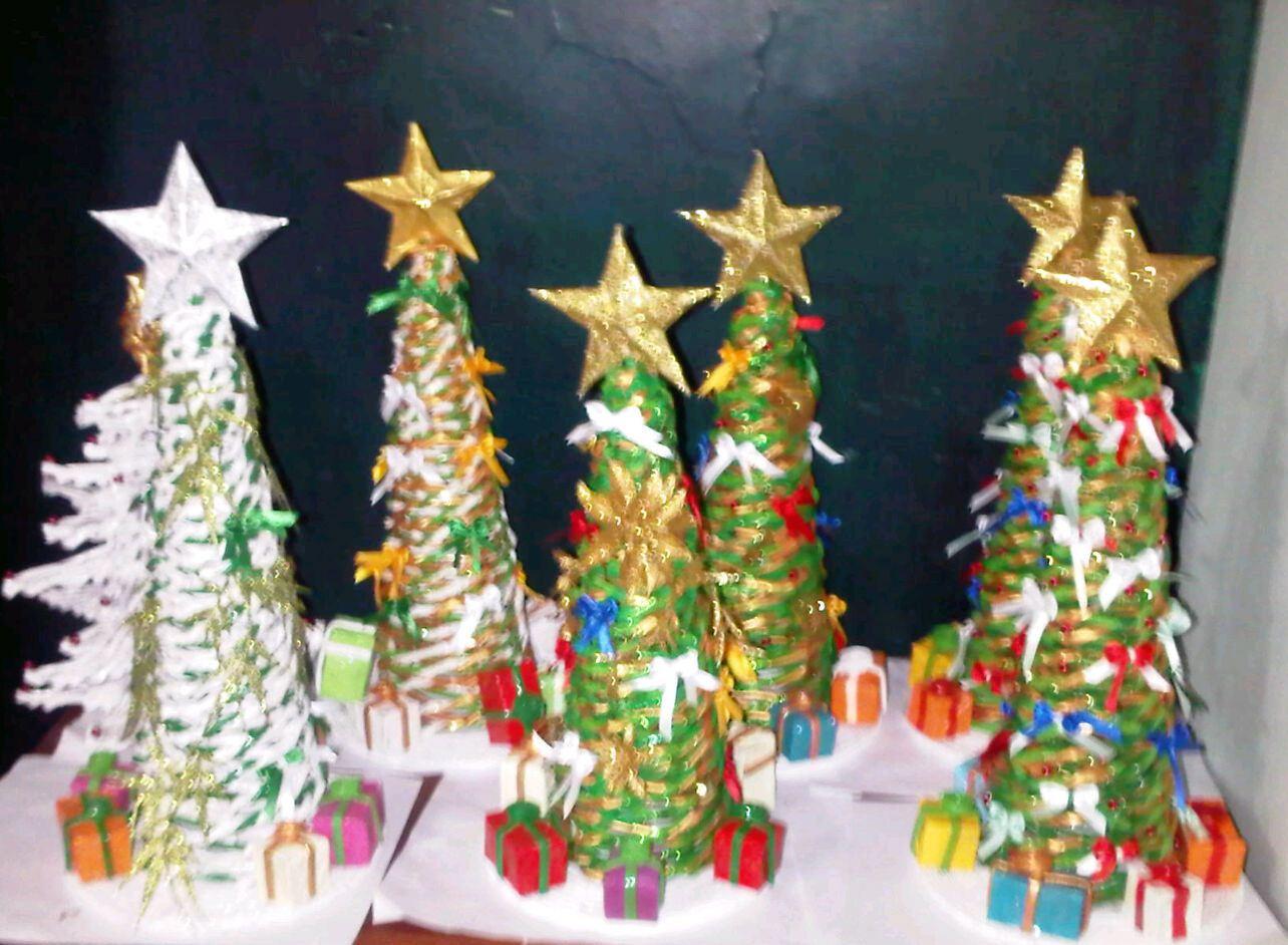 Artesan a y creaciones heimar rbol de navidad hecho de - Arbol de navidad hecho en casa ...