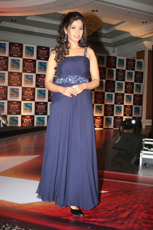 Shreya Ghoshal Hot  Sony TV Music Show X Factor Launch Party Stills glamour images
