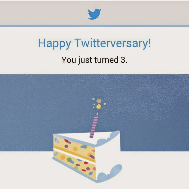 Happy 3rd Twitterversary To Me!!!