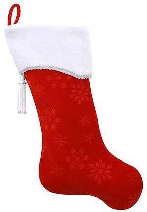 Bota o media navideña con puño, dos colores (molde gratis)