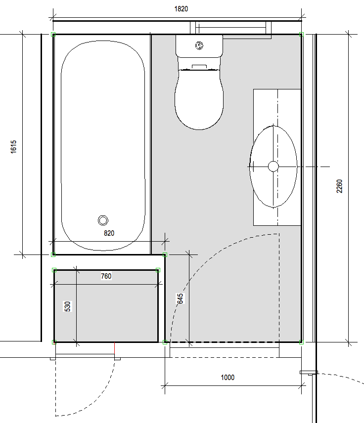 the existing bathroom plan my brief is to design a bathroom that can