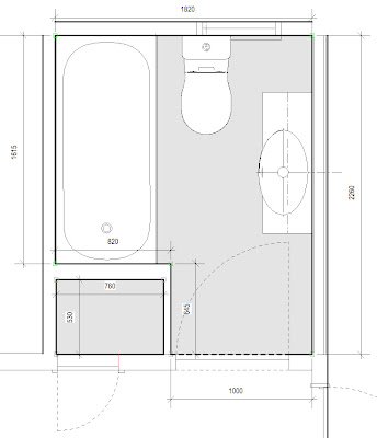 Bathroom Planner on The Existing Bathroom Plan
