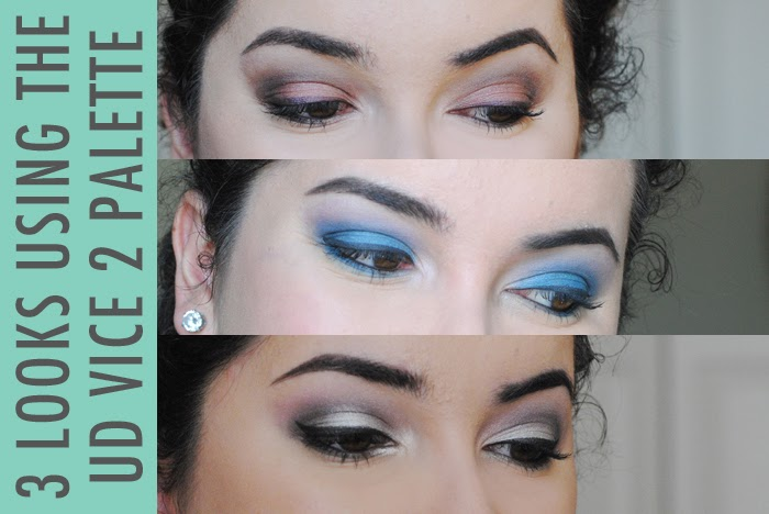 Urban Decay Vice 2 Palette, 3 makeup looks using Urban Decay Vice 2 Palette, how to use the Urban Decay Vice 2 palette, makeup tutorial