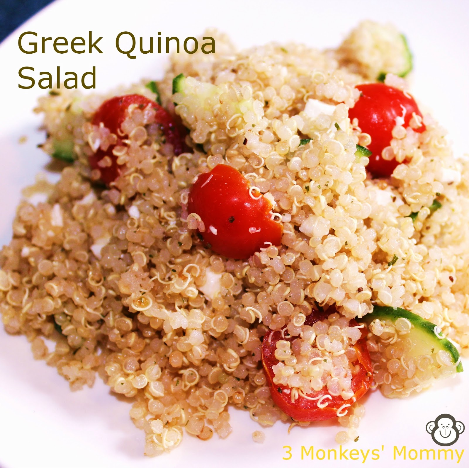 Monkeys' Mommy: Summer Salads Series: Greek Quinoa Salad