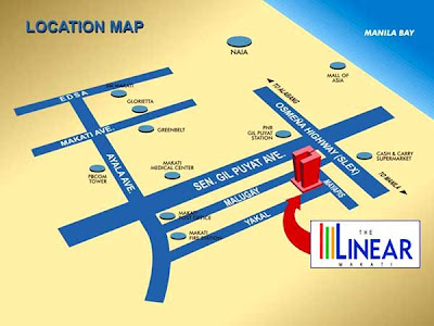 The Linear Makati Location Map, Condominium for sale in Makati, Filinvest