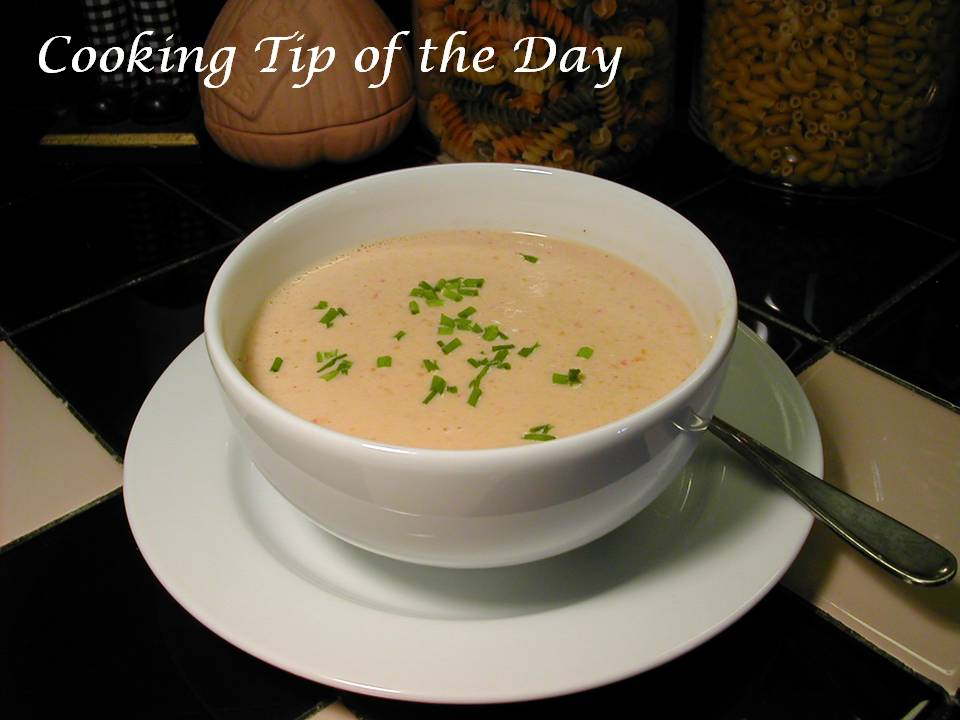 Cooking Tip of the Day: Recipe: Crab Bisque