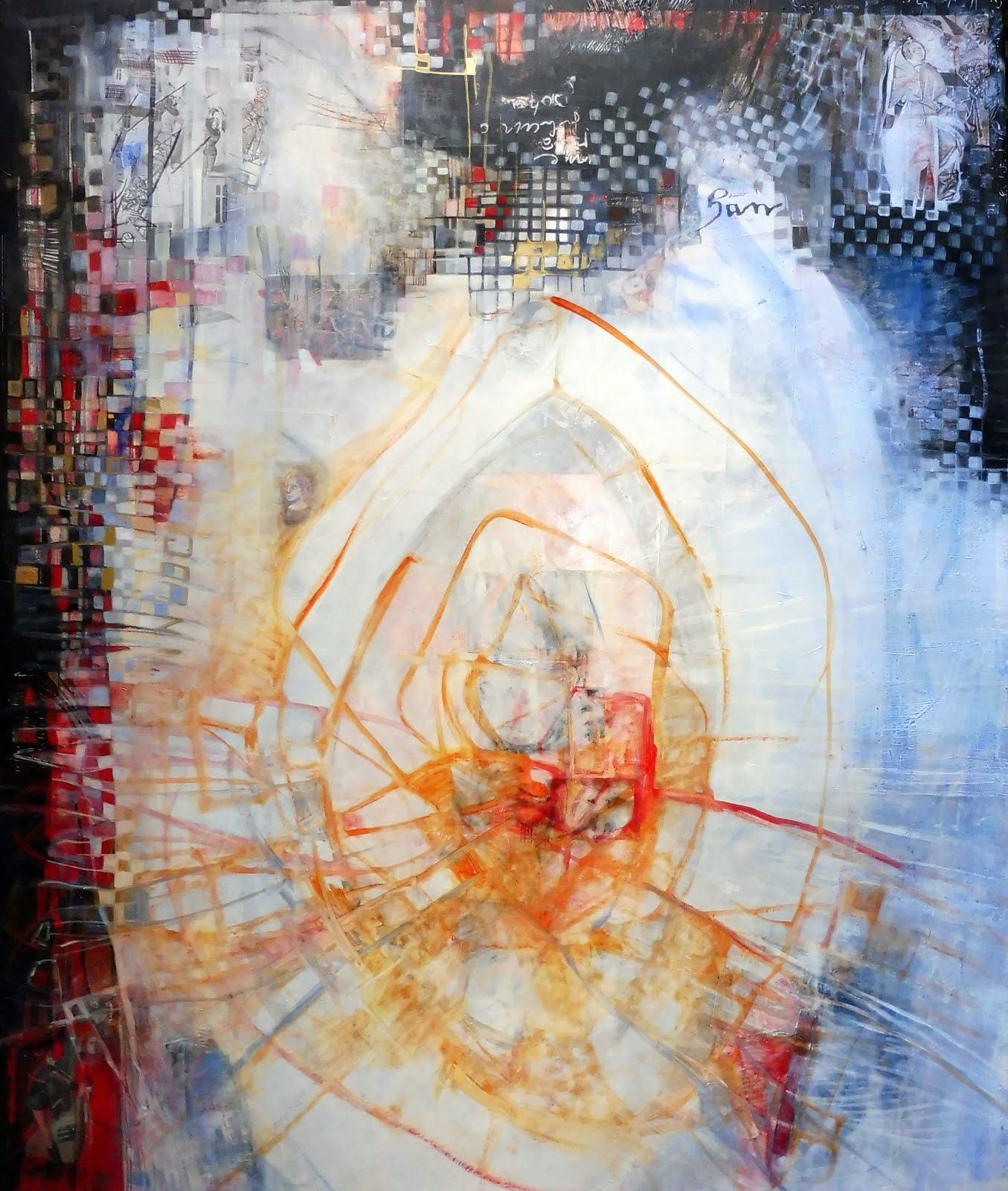 Coeur brûlant - 100 x 120 cm - 2018