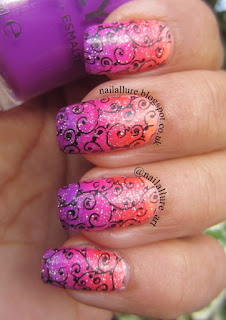 Orly Adrenaline Rush gradient Uberchic Set 6 6-02 Stamping