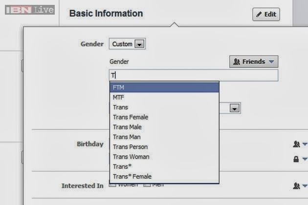 Facebook Adds Dozens of New Gender options