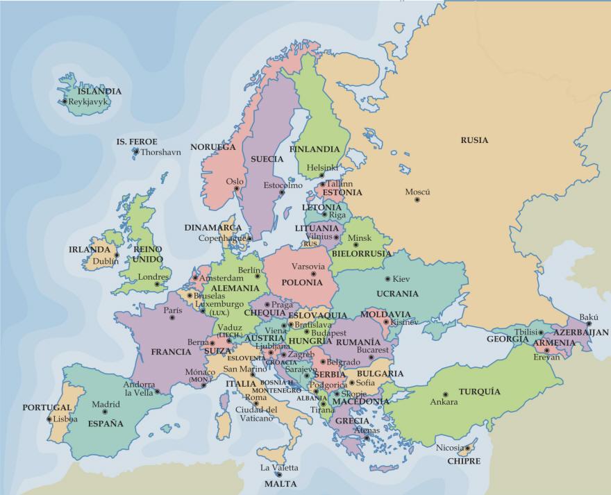 mapa de europa mudo. 2011 Mapa del Mundo Político,