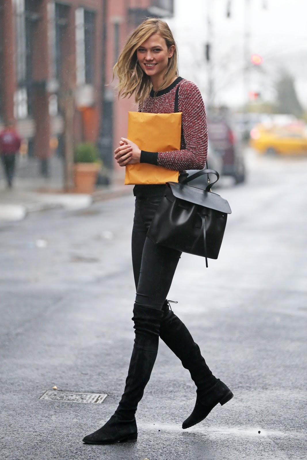 Street Style: Karlie Kloss' Casual Winter Look