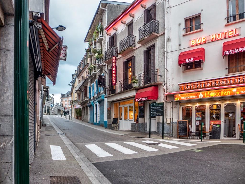 Lourdes France village street