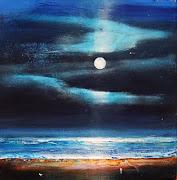 August 29 Nighttime Ocean Beach Seascape Person