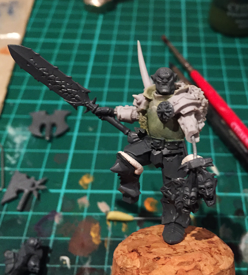 Warriors of Chaos Khorne Lord Conversion (WIP) - CMDante.com