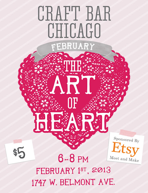 Etsy Meet And Make : Craft Bar Chicago February 2013