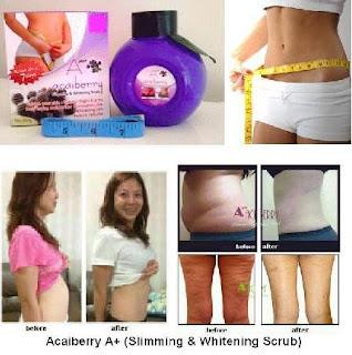 Bukti dan Testimoni Scrub Pelangsing A+ Acai Berry Original Slimming n Whiteing