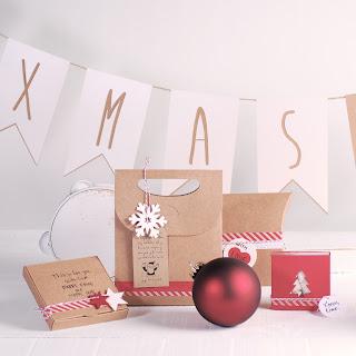 decoración navideña rojo y kraft self packaging diy handmande