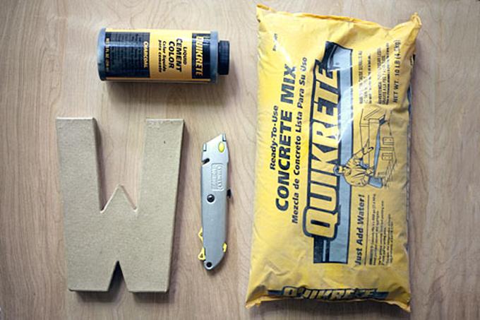 DIY para hacer letras de cemento