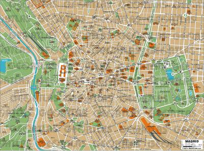 Mapa de Madrí – Espanha