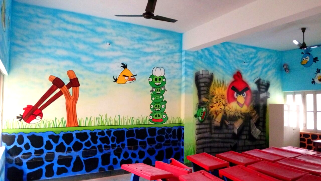School Wall Painting and Interior Decoration