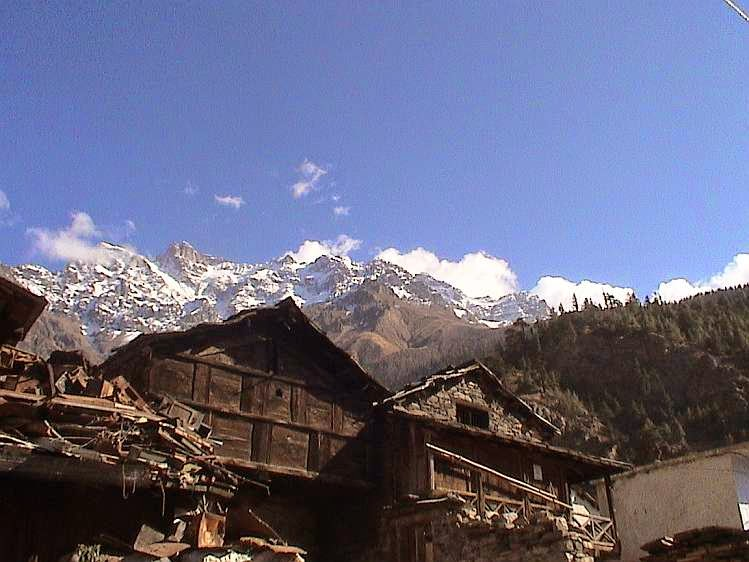 Jumma village near malari joshimath trek to bagani