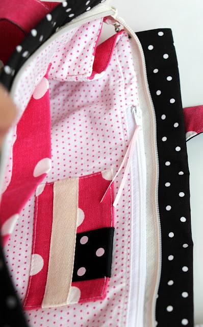 handbag ,mademoiselle, polka dot