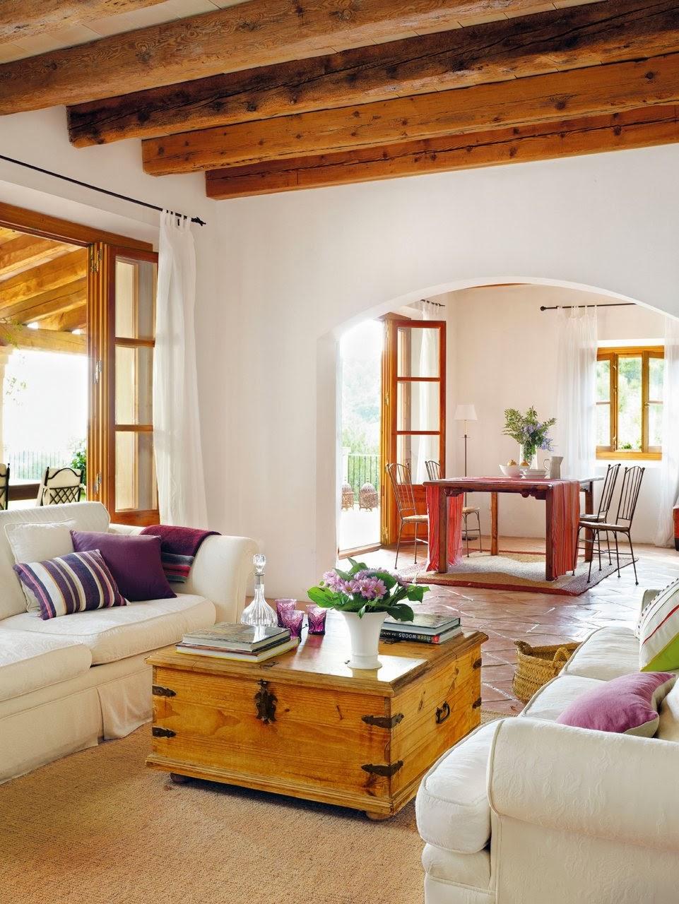 Muebles de doble uso - Decoracion con vigas de madera ...