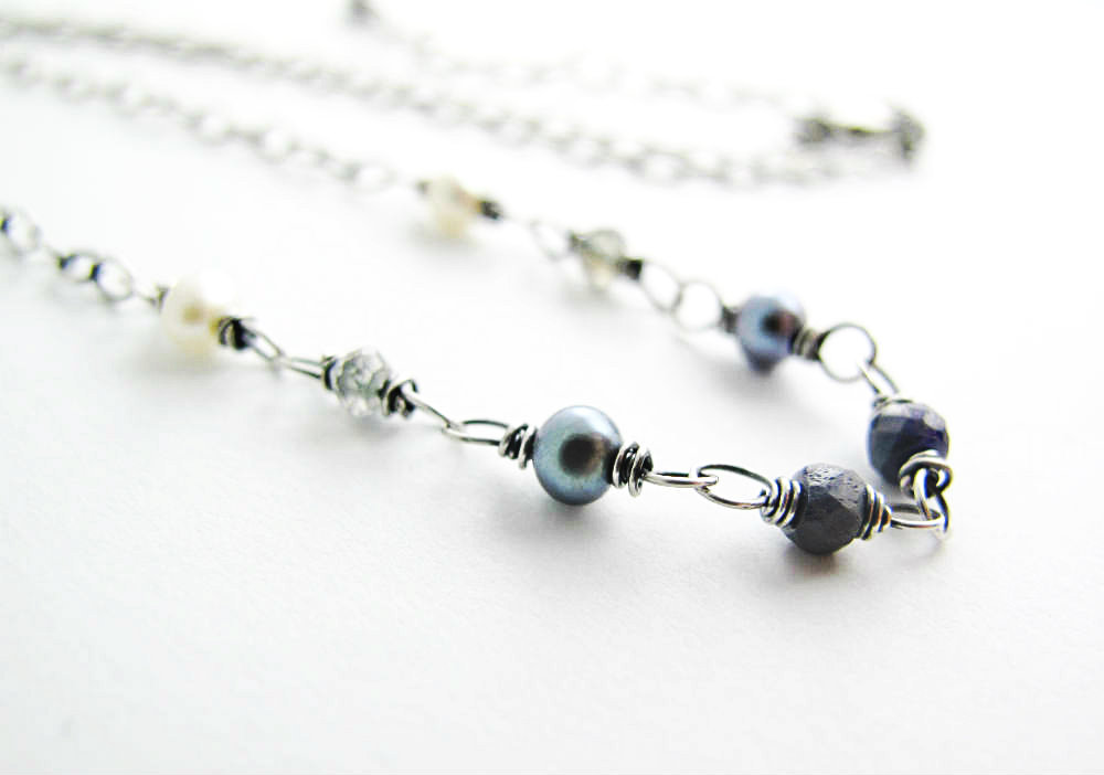Winter's Tale Sapphire Necklace by Beth Hemmila of Hint Jewelry