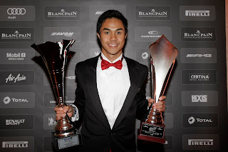 Jazeman with his British F3 2012 awards