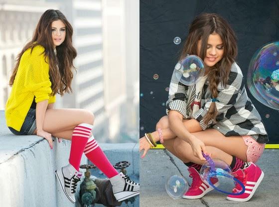 Selena Gomez posa para nova campanha de tênis Adidas NEO