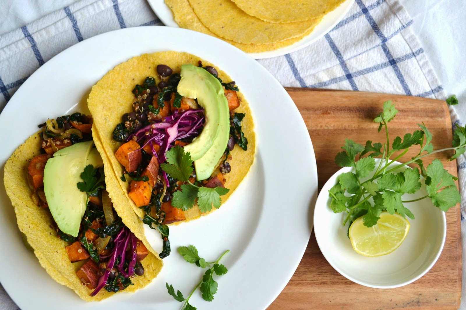 Nourish The Roots: Black Bean, Sweet Potato, and Kale Tacos
