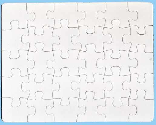 Gonna stuff a chicken project make your own puzzles for Large blank puzzle pieces template