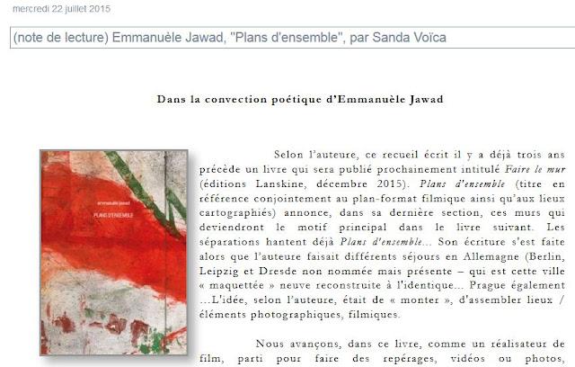 http://poezibao.typepad.com/poezibao/2015/07/note-de-lecture-emmanu%C3%A8le-jawad-plans-densemble-par-sanda-vo%C3%AFca.html