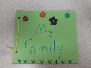 picture of finished My Family Book