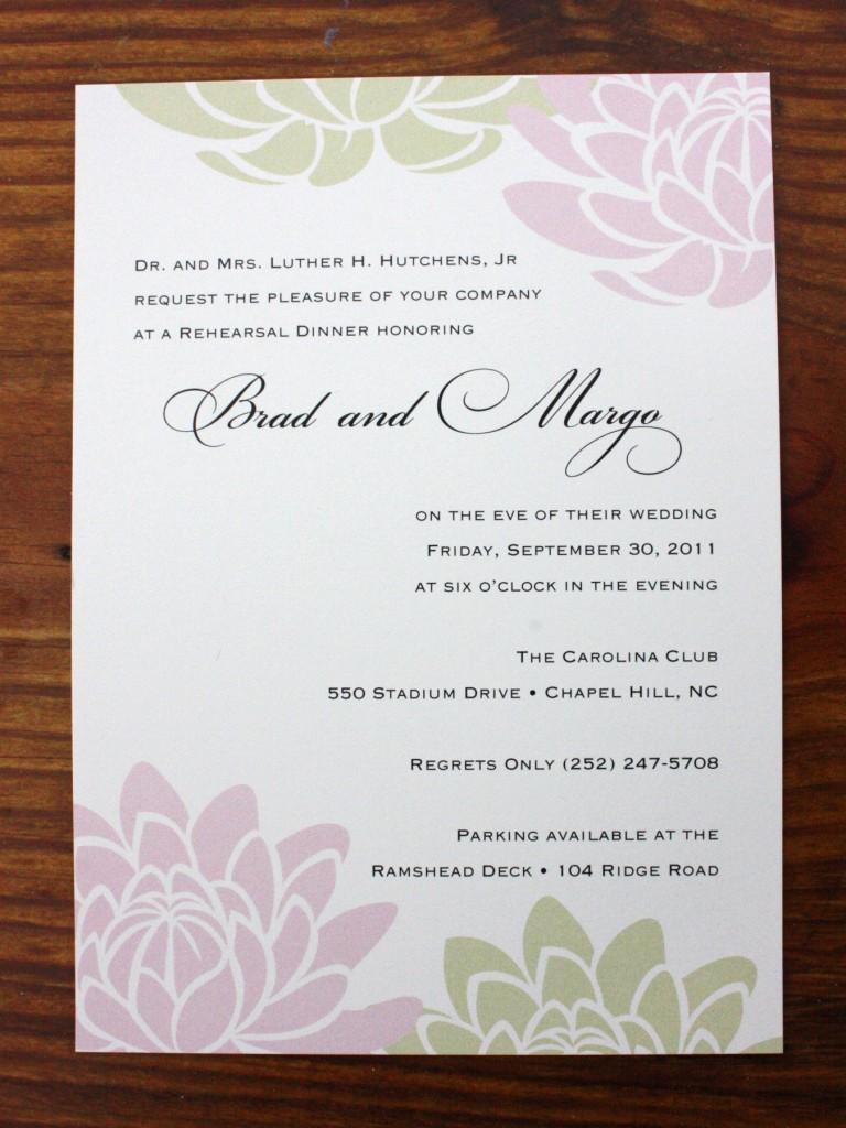 Spring wedding invitations for Most formal wedding invitations