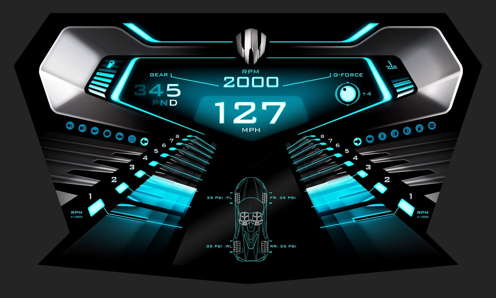 R o b o m o t o s concept art by jamie martin 2d 3d for Dash designs car interior shop