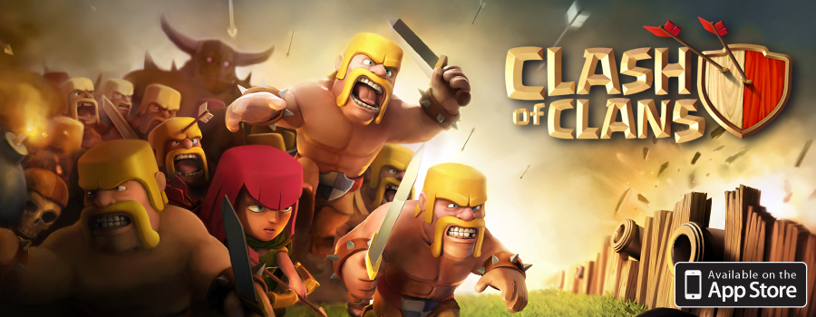 YouTube Clash of Clans Banner