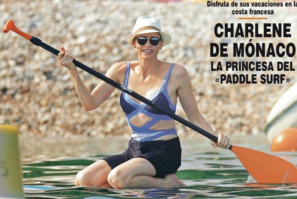 Princess Charlene Of Monaco At French Coast