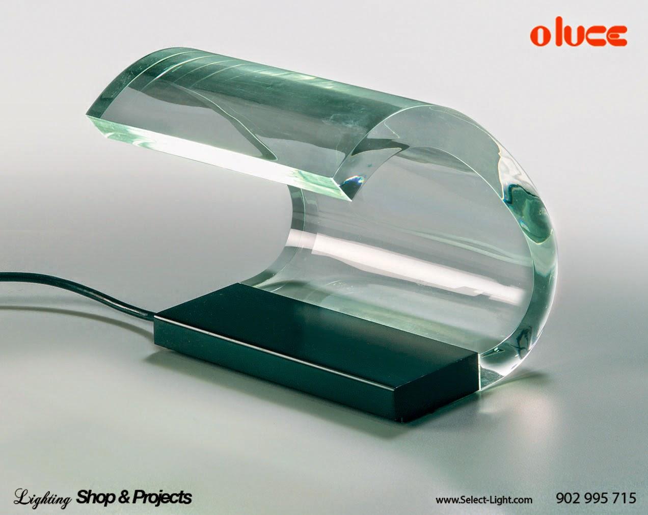 lampra diseño acrilica table oluce