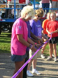 Sue White Cutting the Ribbon on 2010 Survivors Walk