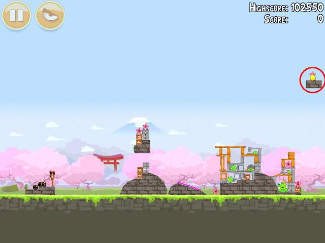 Angry Birds Seasons: Cherry Blossom - Golden Eggs - 1-15