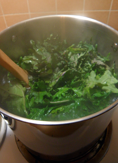 Kale Boiling in the Pot