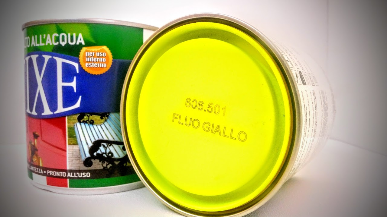 Scalia forniture giallo fluorescente lo smalto all - Smalto ad acqua per cucina ...