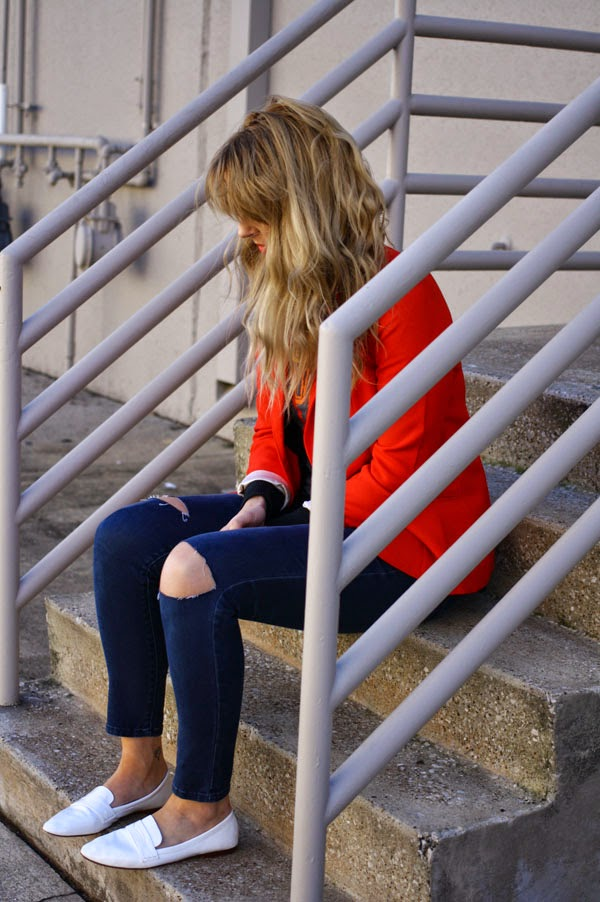 red_blazer_distressed_denim