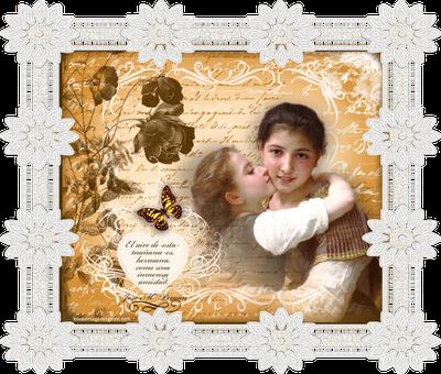 collage vintage en formato png