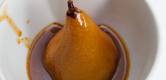 ... Diaries Challenge 2013: Pears Poached in Caramel with Toasted