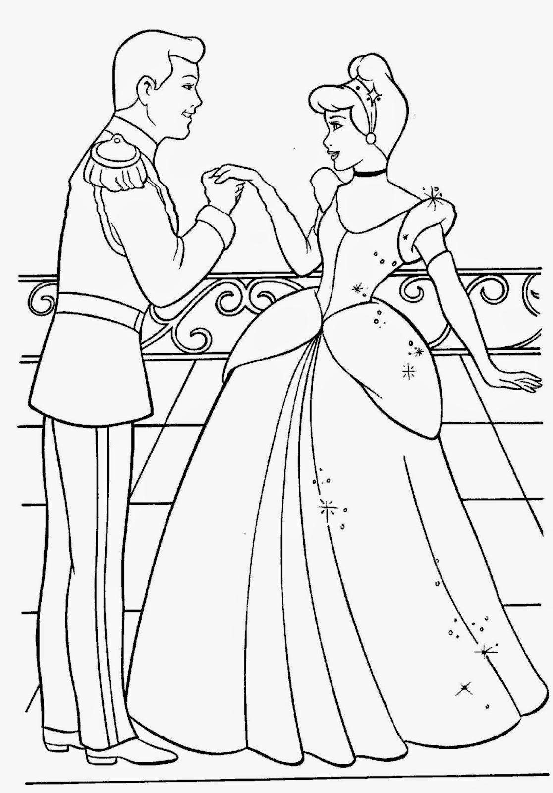 cinderella coloring sheet free coloring sheet