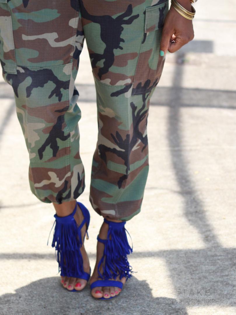Camo print with high heels